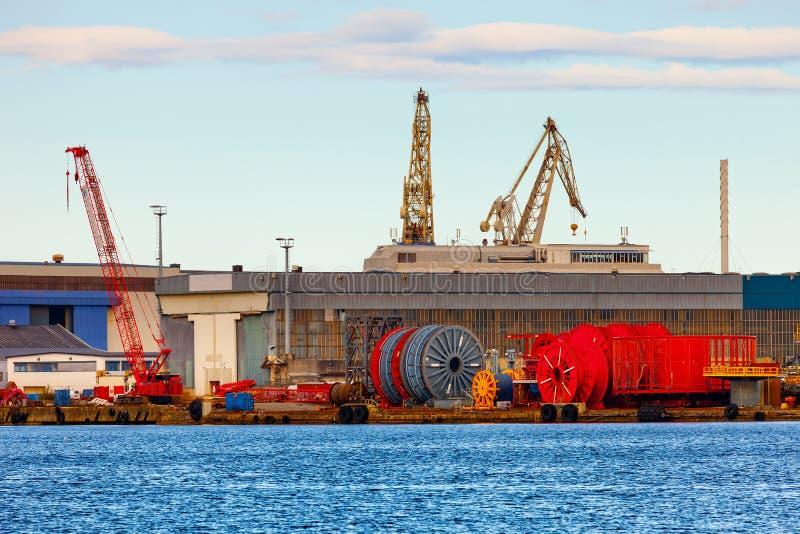 Haven van Stavanger stock afbeelding