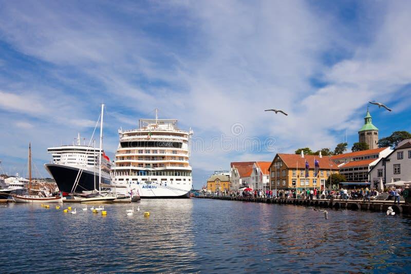 Haven van Stavanger, Noorwegen. royalty-vrije stock fotografie