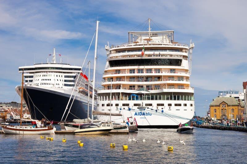 Haven van Stavanger, Noorwegen. stock afbeelding