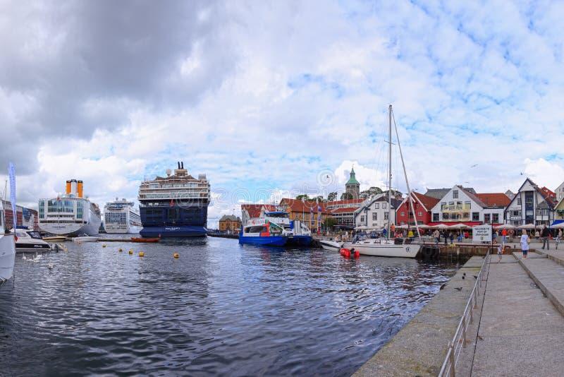 Haven van Stavanger, Noorwegen. royalty-vrije stock afbeelding