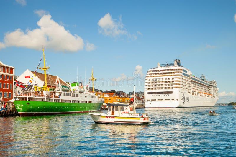 Haven van Stavanger, Noorwegen stock afbeeldingen