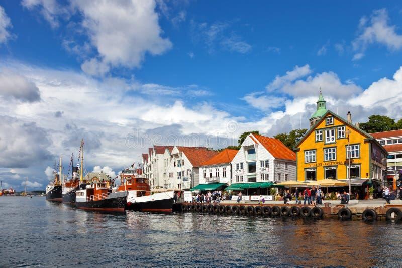 Haven van Stavanger stock afbeeldingen