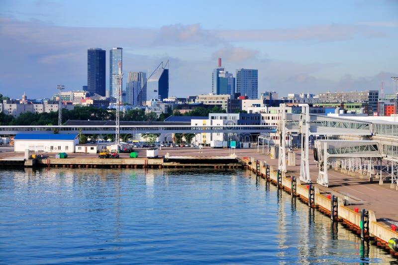 Haven van Tallinn, Estland stock fotografie