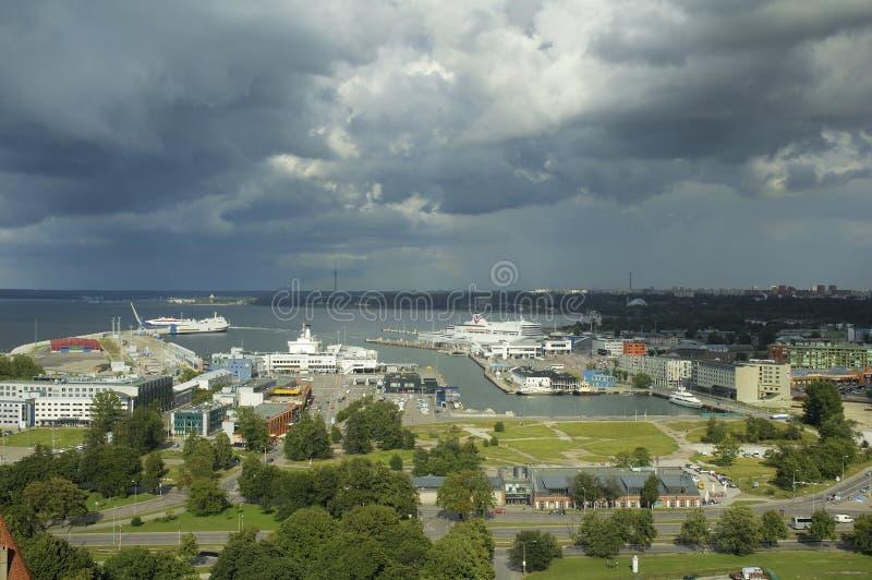Haven van Tallinn. Estland. royalty-vrije stock afbeeldingen