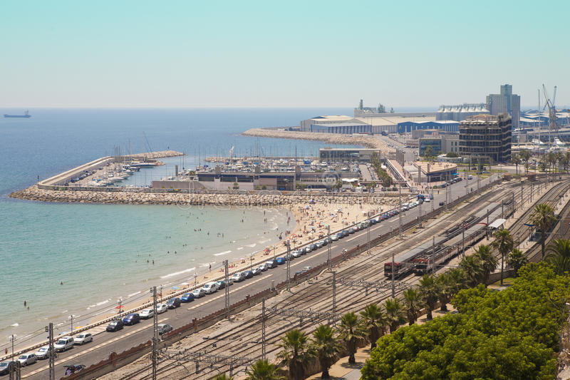 Haven van Tarragona stock afbeelding