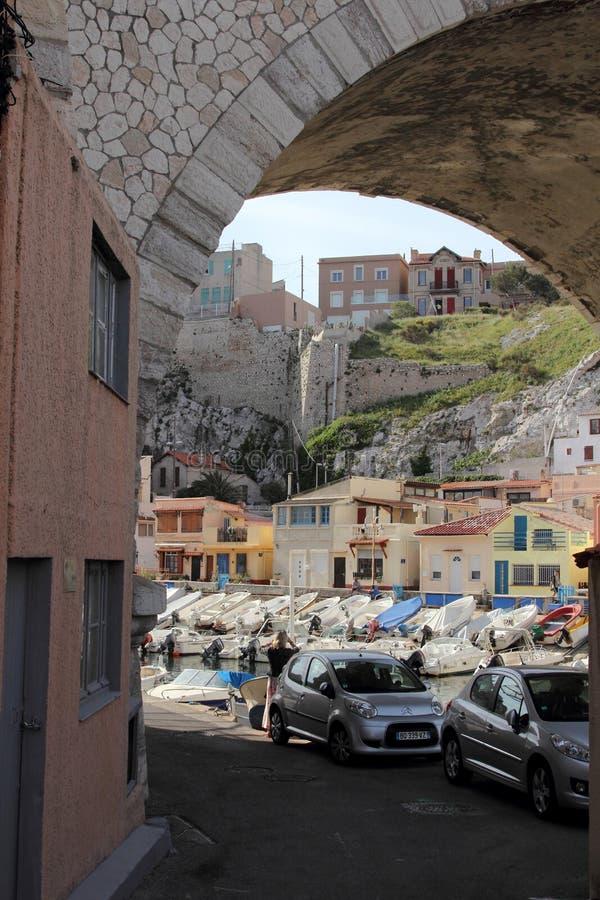 Haven van Vallon des Auffes, Marseille royalty-vrije stock afbeeldingen