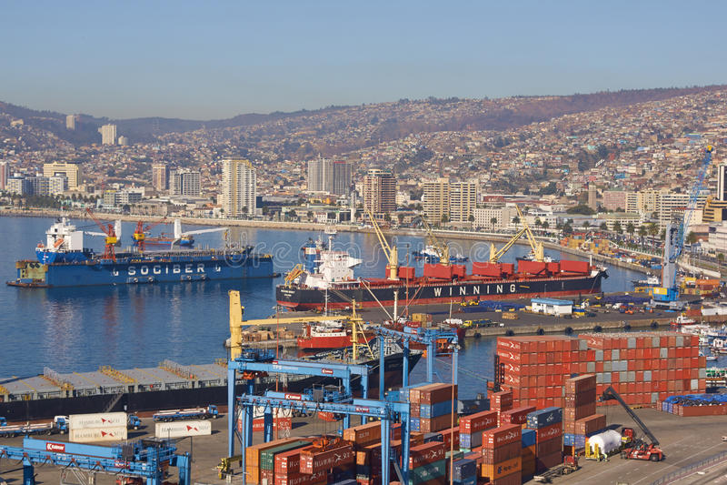 Haven van Valparaiso royalty-vrije stock foto