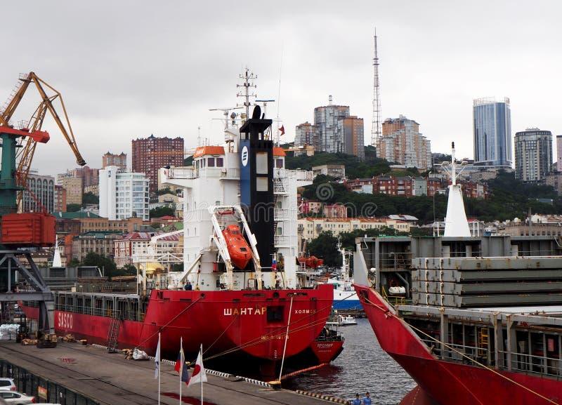 Haven van Vladivostok royalty-vrije stock afbeelding