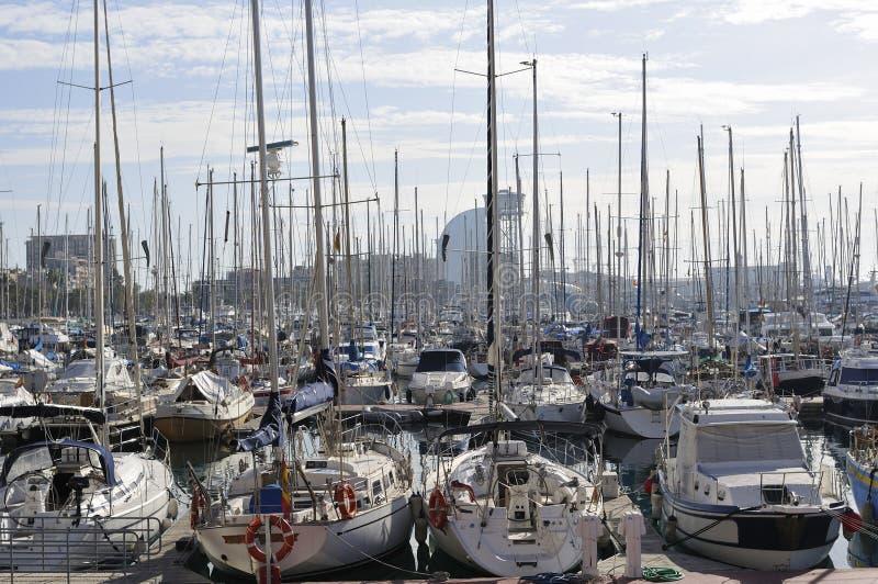 Haven Vell, Barcelona royalty-vrije stock afbeelding