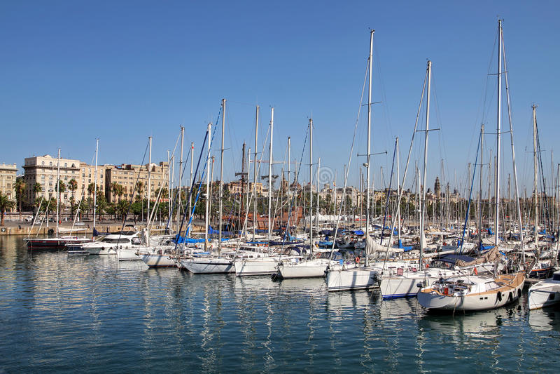 Haven Vell, Barcelona, Spanje stock afbeelding