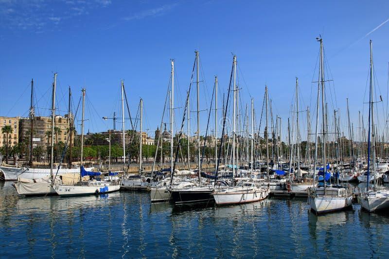 Haven Vell in Barcelona, Spanje stock fotografie