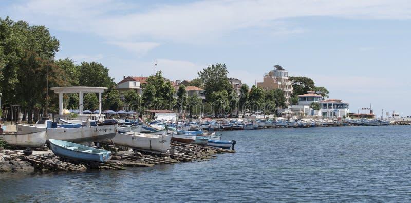 Haven voor boten in Pomorie Bulgarije royalty-vrije stock afbeelding
