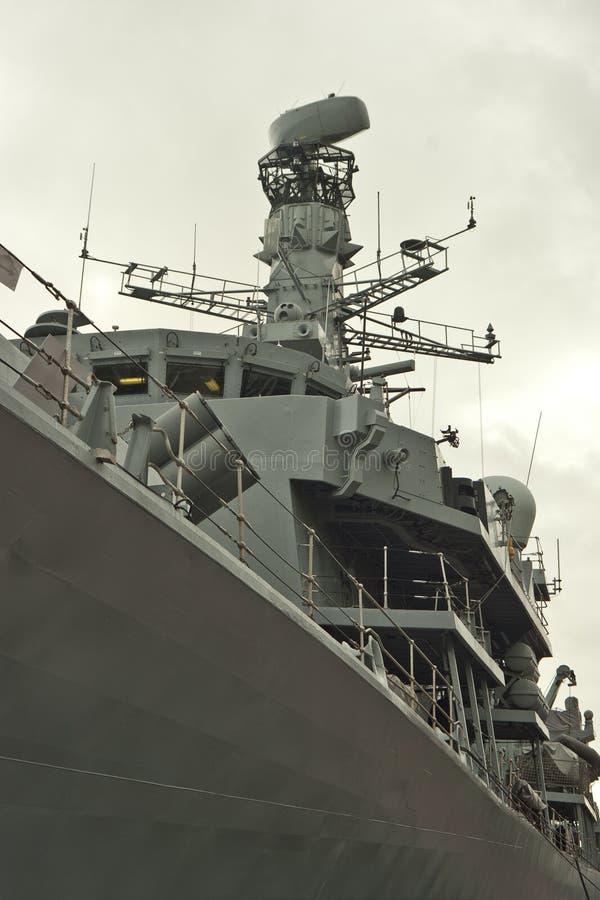 Havenkant van Koninklijk Marinefregat royalty-vrije stock afbeelding