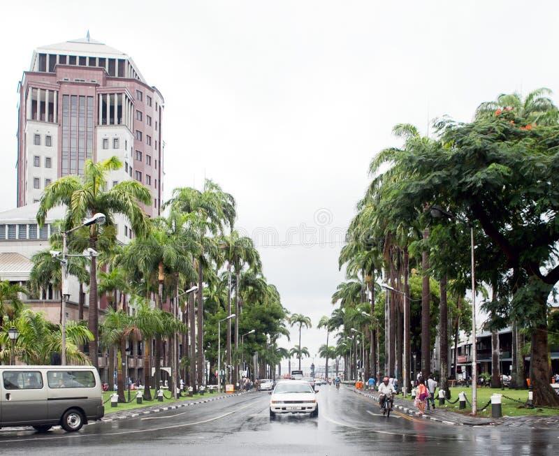 Havenlouis cityscape stock afbeeldingen