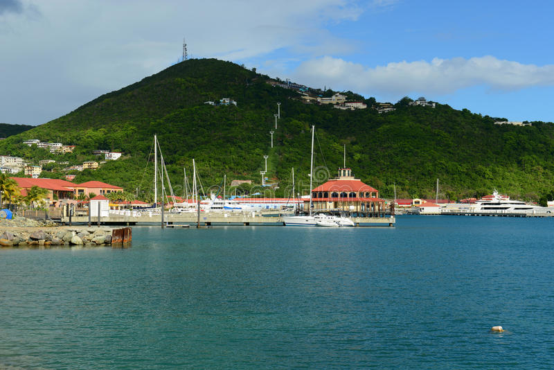 Havensight Shopping Mall, Saint Thomas. Havensight Shopping Mall, Long Bay and Paradise Point in Charlotte Amalie, Saint Thomas, US Virgin Islands. Havensight is stock photo