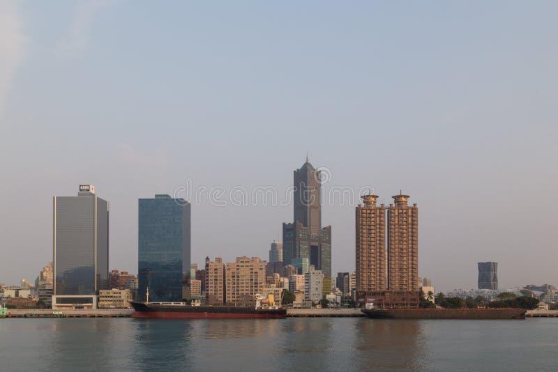 Havenvoorzijde in Kaohsiung, Taiwan royalty-vrije stock fotografie
