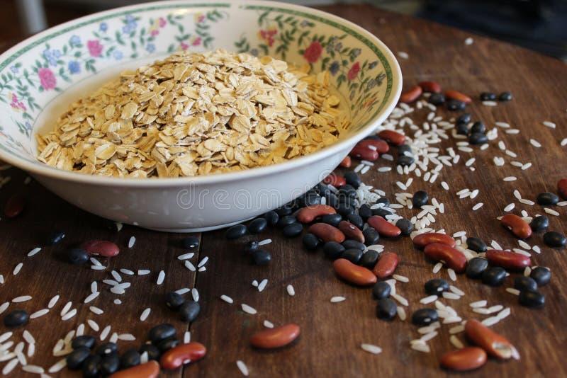 Haver, bonen, en rijst royalty-vrije stock fotografie