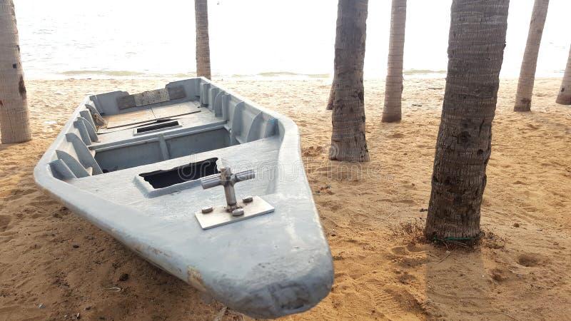 Haver op het strand wordt geparkeerd dat stock afbeelding