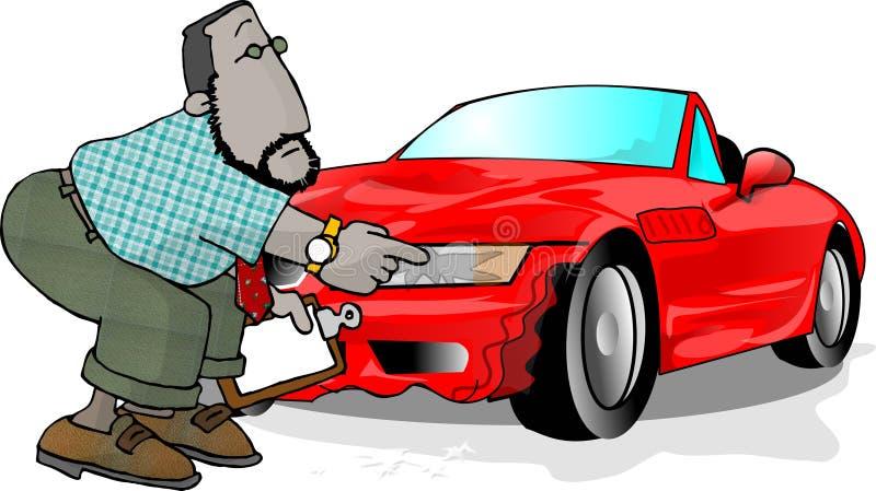 havererad bil stock illustrationer