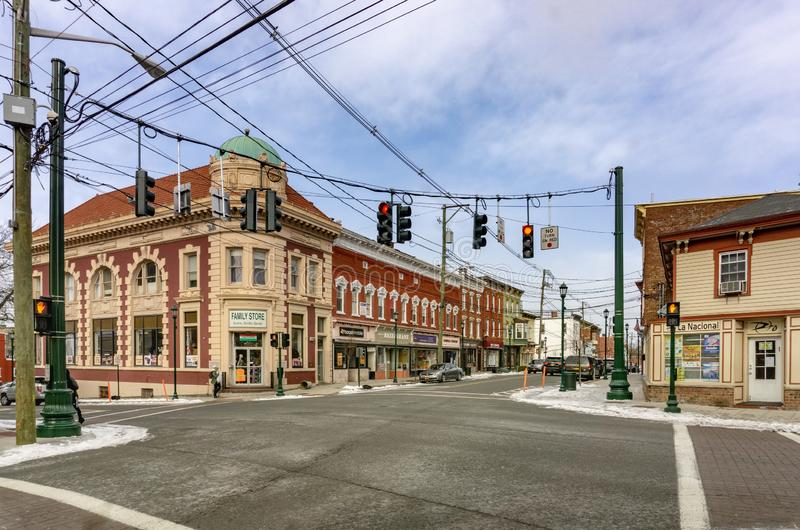 Haverstraw, NY/Verenigde Staten - 21 Januari, 2019: Main Street Haverstraw stock foto's