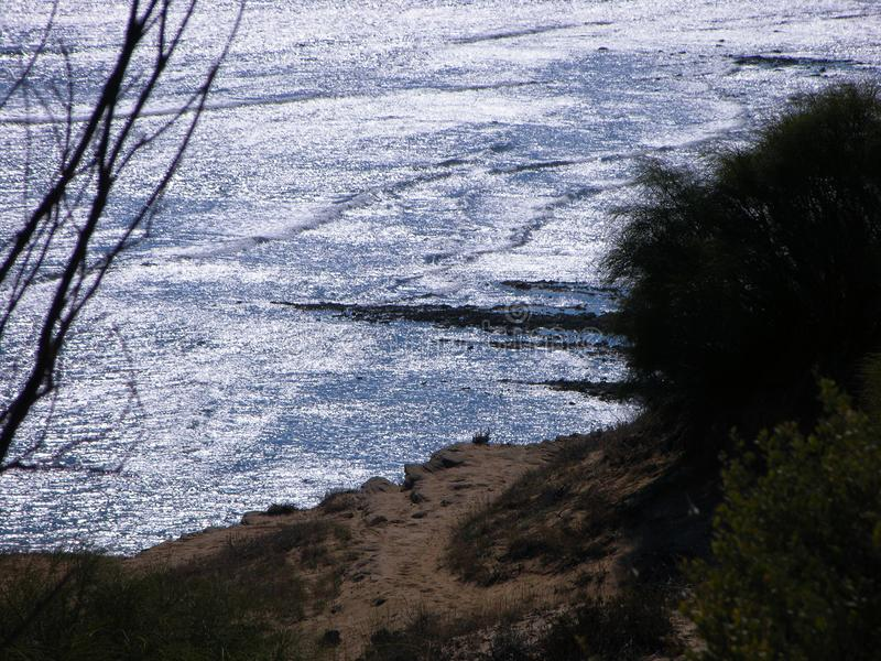 Havet av silver royaltyfria foton
