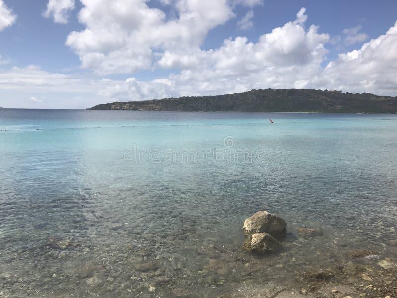 Havet på Curacao arkivfoto