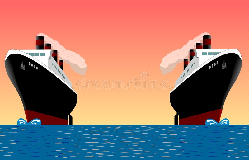 havet sänder tappning stock illustrationer