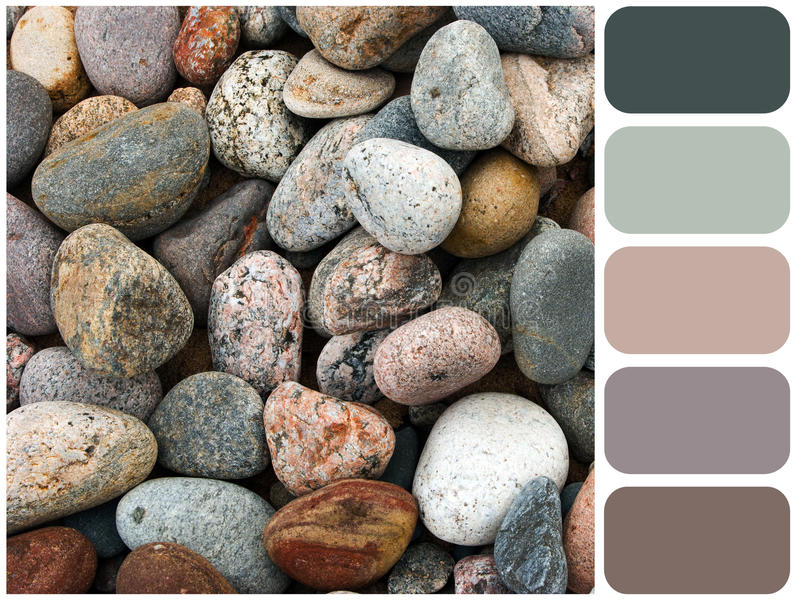 Havet stenar bakgrundstextur arkivbild