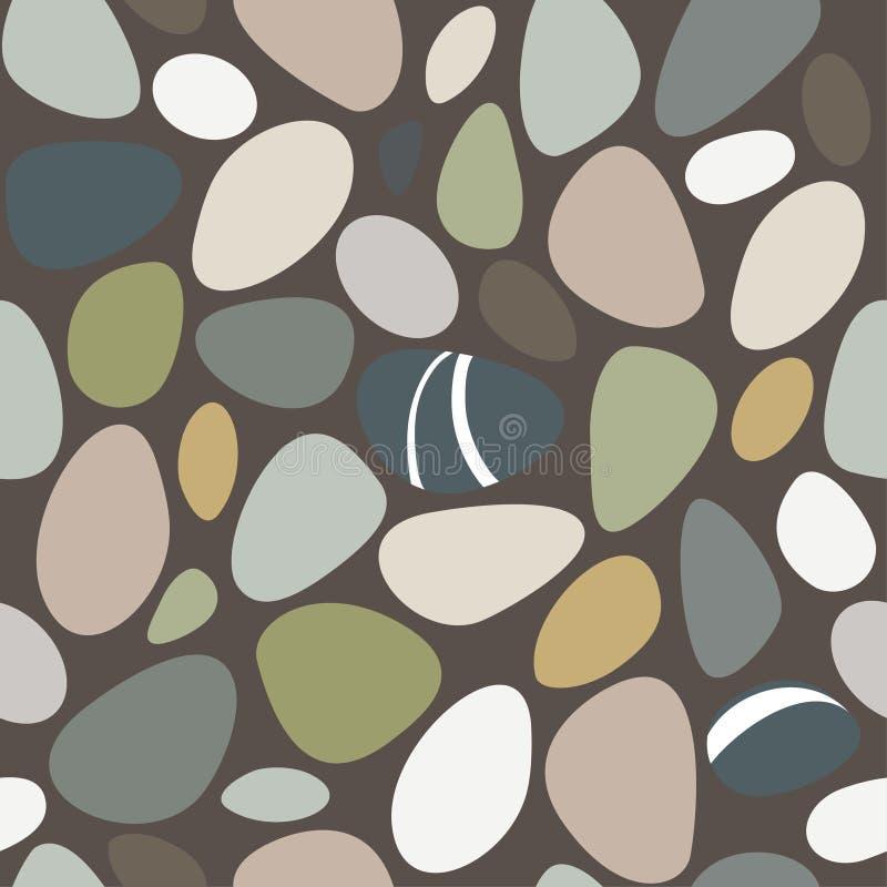 Havet stenar den sömlösa modellen stock illustrationer