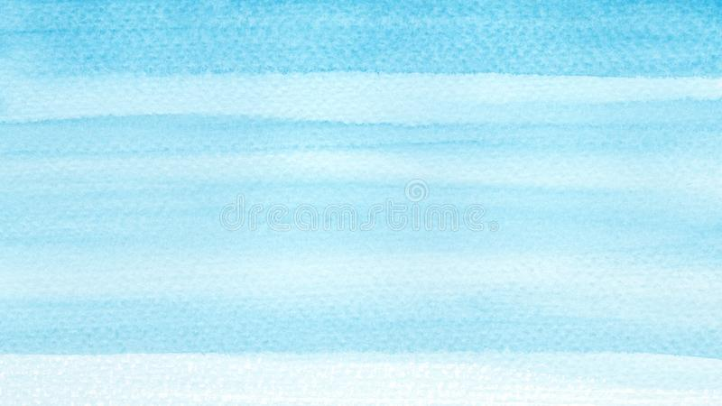Havhav eller blå för azur abstrakt bakgrund turkosvattenfärg för himmel Horisontalakvarelllutningpåfyllning Hand dragen textur Pi arkivfoton