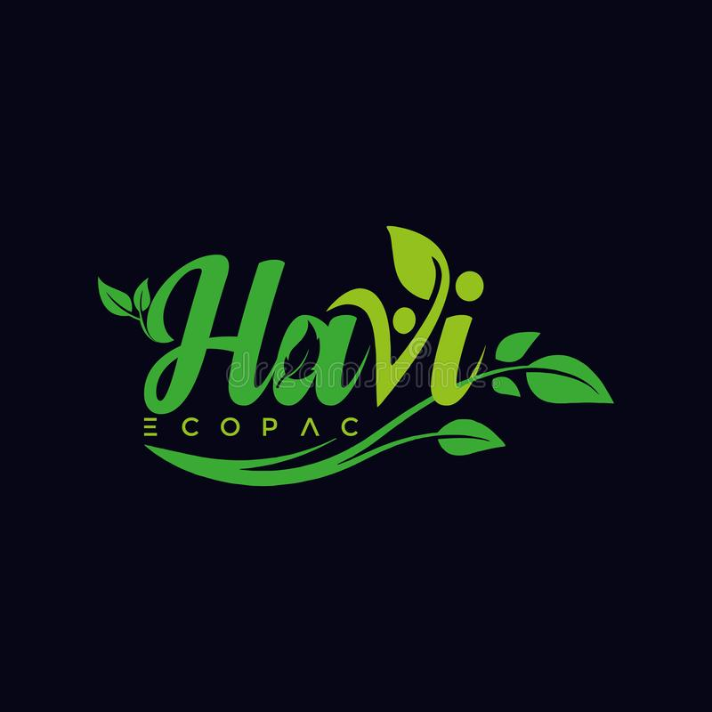 Havi Logo design by adobe illustrator. The logo is very creative And professional. The logo make by adobe illustrator royalty free illustration