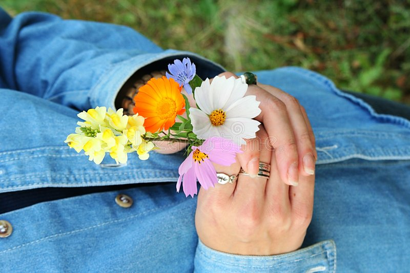 Download Having a bouquet stock photo. Image of closeup, delicate - 268422