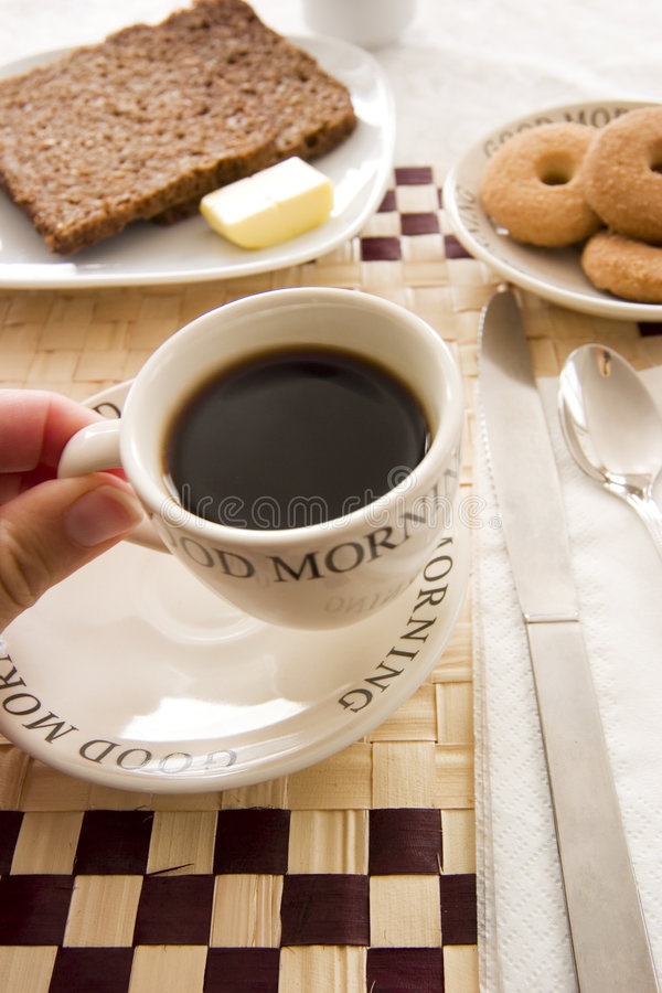 Having a coffee stock images