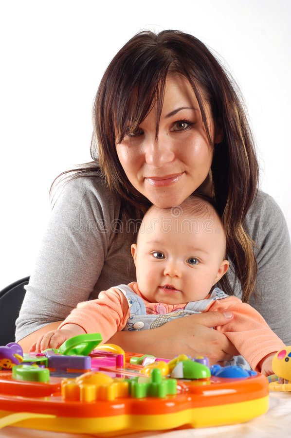 Having fun with baby royalty free stock photography