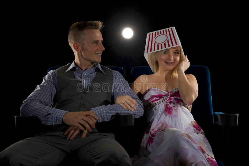 Having fun on date night stock photos