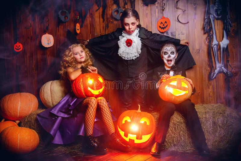 Having fun at halloween stock image