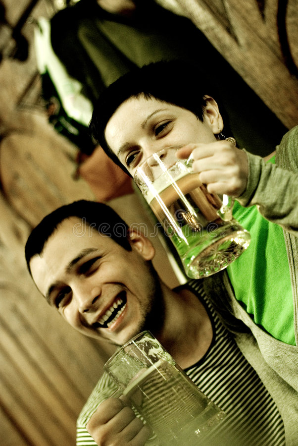 Free Having Fun In Restaurant Stock Image - 3196131