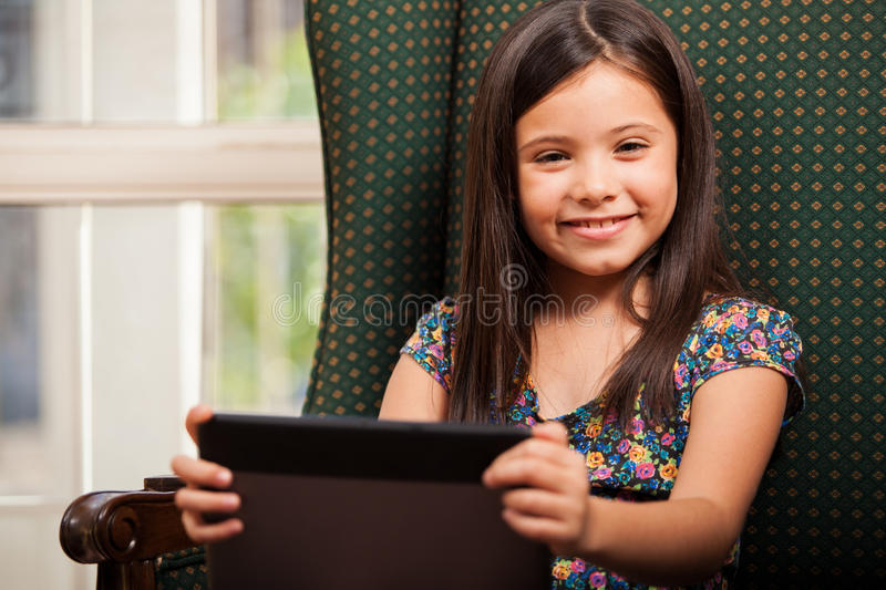 Download Having Fun With A Tablet Computer Stock Image - Image: 34083971