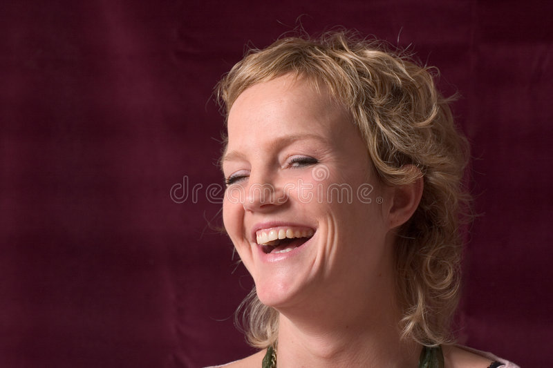 Having a laugh stock photography