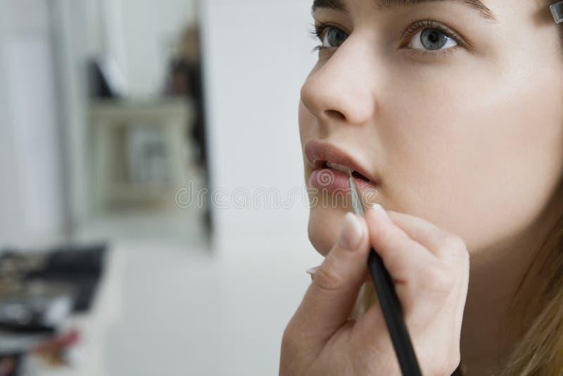 Having Makeup Applied modelo fotos de stock