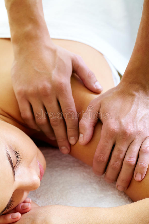 Having massage stock images
