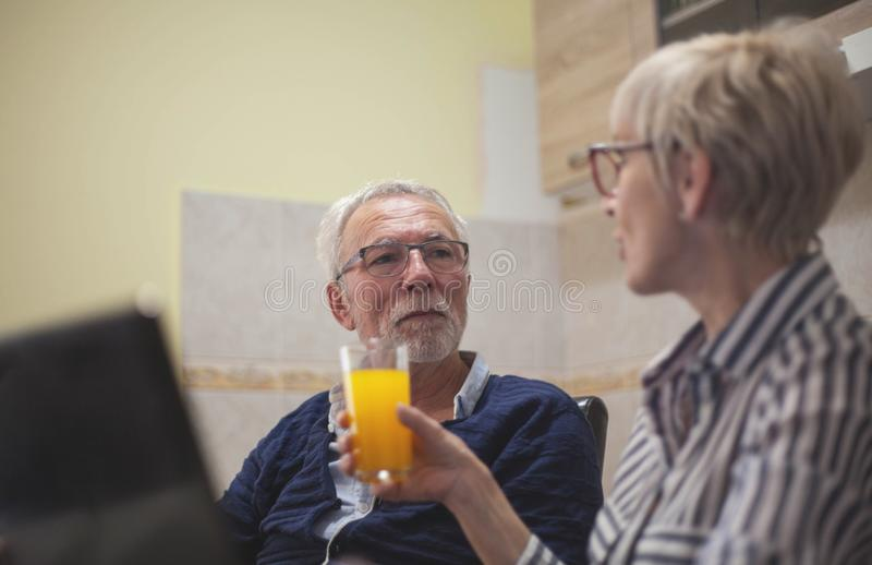 Having a nice morning royalty free stock photography