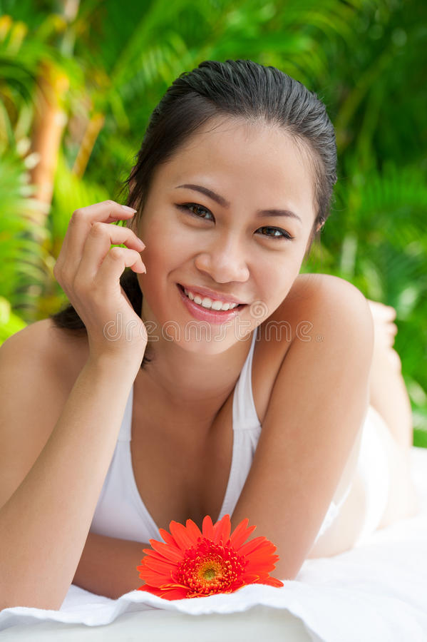 Download Having relax stock photo. Image of pleased, green, glad - 29080118