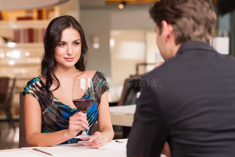Having romantic talk royalty free stock photo