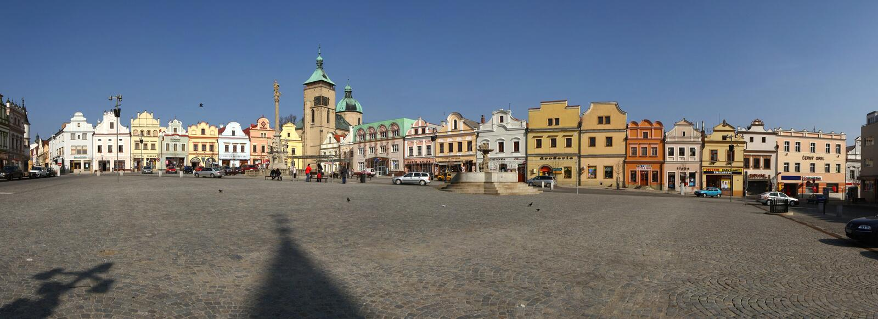 Havlickuv Brod i Tjeckien royaltyfri foto