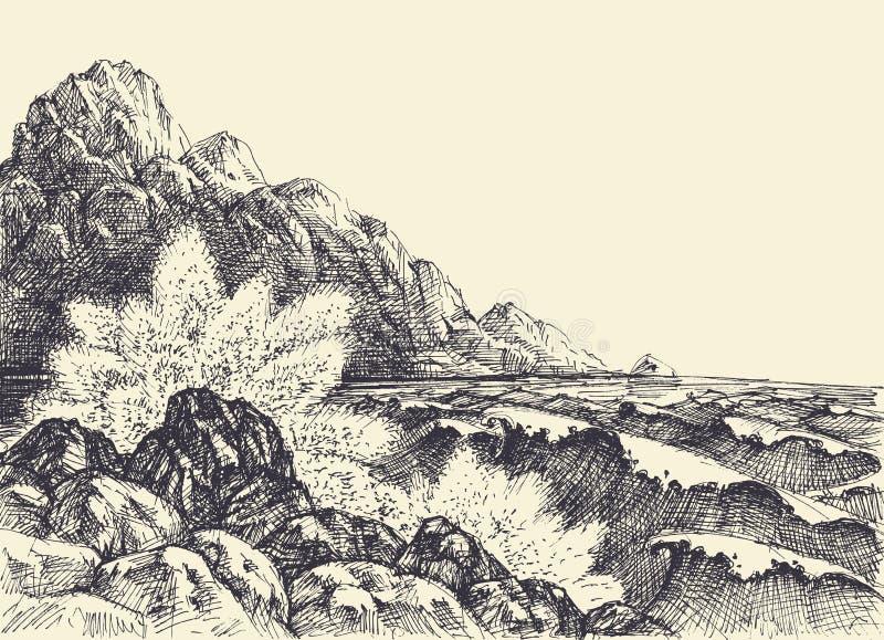 Havs- eller havhandteckning royaltyfri illustrationer