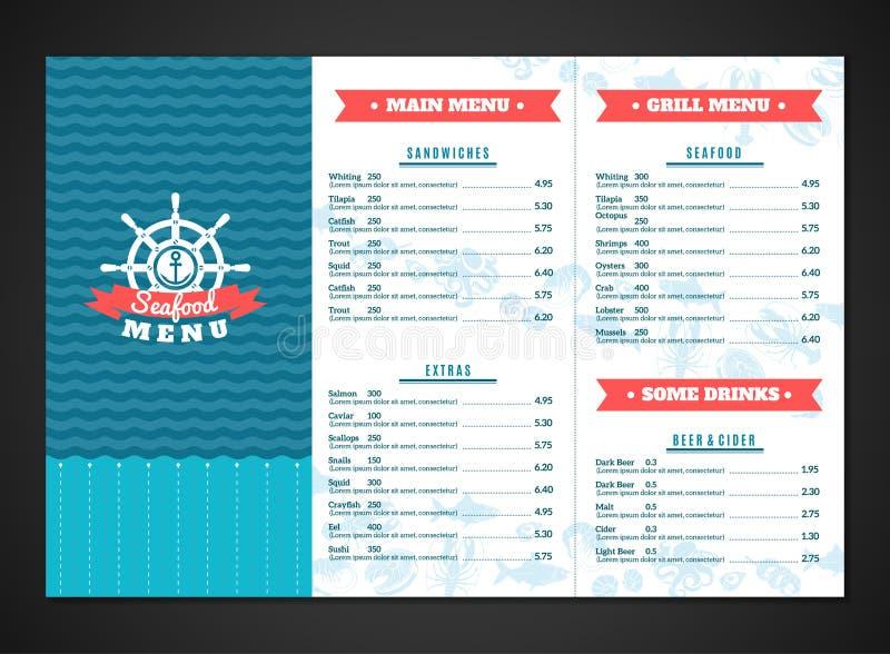 Havs- menymall stock illustrationer