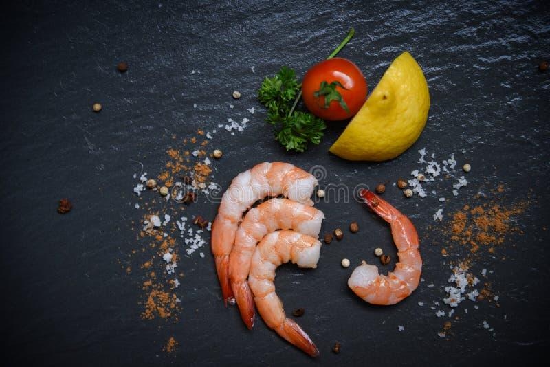 Havs- sikt för räka överst/för räkaräkor för skaldjur ny gourmet för hav arkivbilder
