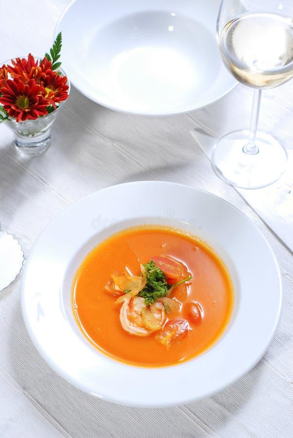 Havs- soppa på plattan royaltyfria foton