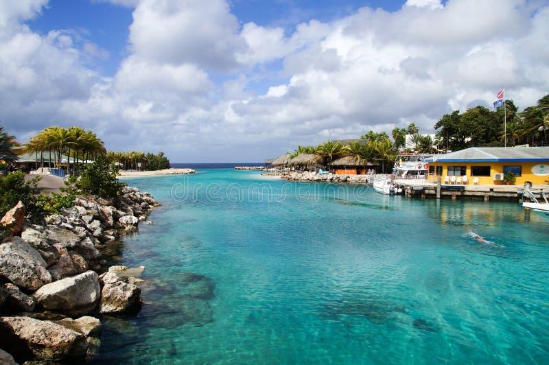 HavsAcquarium strand - Curacao arkivbild